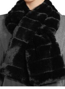 Karl Lagerfeld Faux Fur Pull-thru Scarf